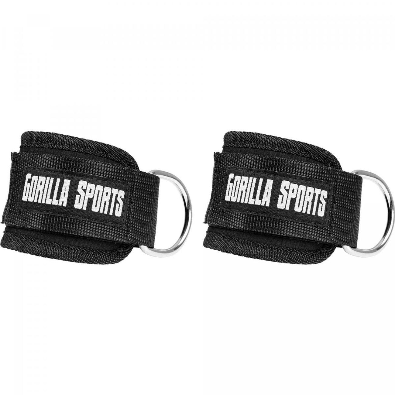 Musculation  GORILLA Gorilla Sports - Paire de sangles de tirage rembourrées pour cheville ou poignet -  2 sangles Nylon avec fermetures velcro
