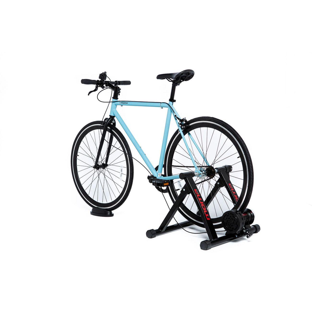 MOMABIKES Home Trainer Momabikes, 6 Niveaux, résistance 500W, compact et pliable, roue de 26