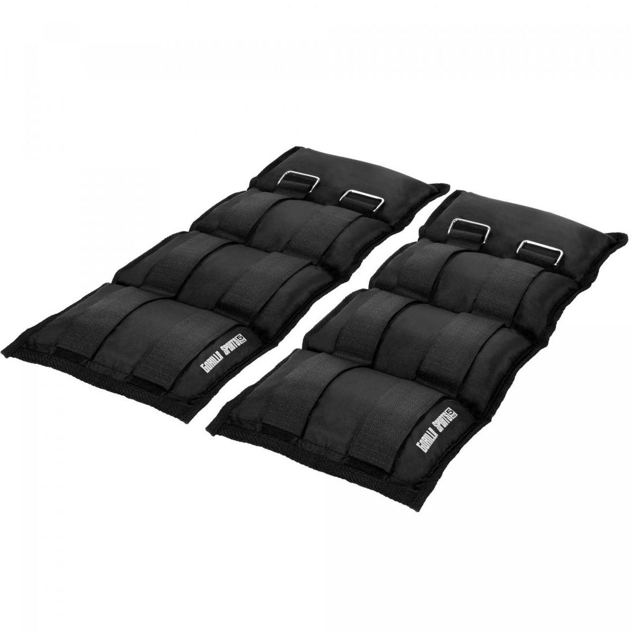 Musculation  GORILLA Gorilla Sports - Bandes lestées pour poignets ou chevilles de 2x0.5kg à 2x5kg