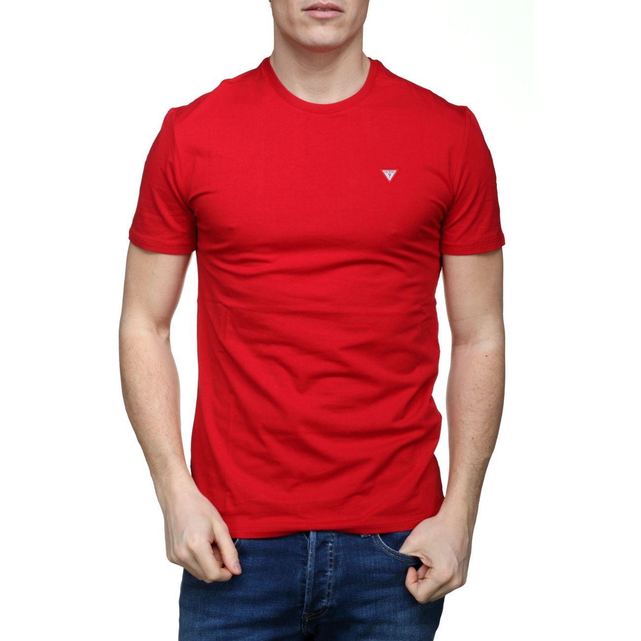 check out closer at wholesale dealer Tee Shirt Guess M82i32 - J1300 C512 Rouge – achat et prix ...
