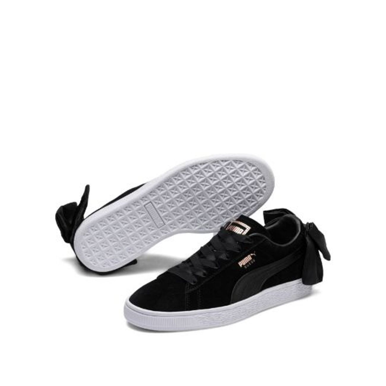 taille 40 1f32e 7b865 Mode- Lifestyle femme PUMA Chaussures cuir avec noeud suede BOW