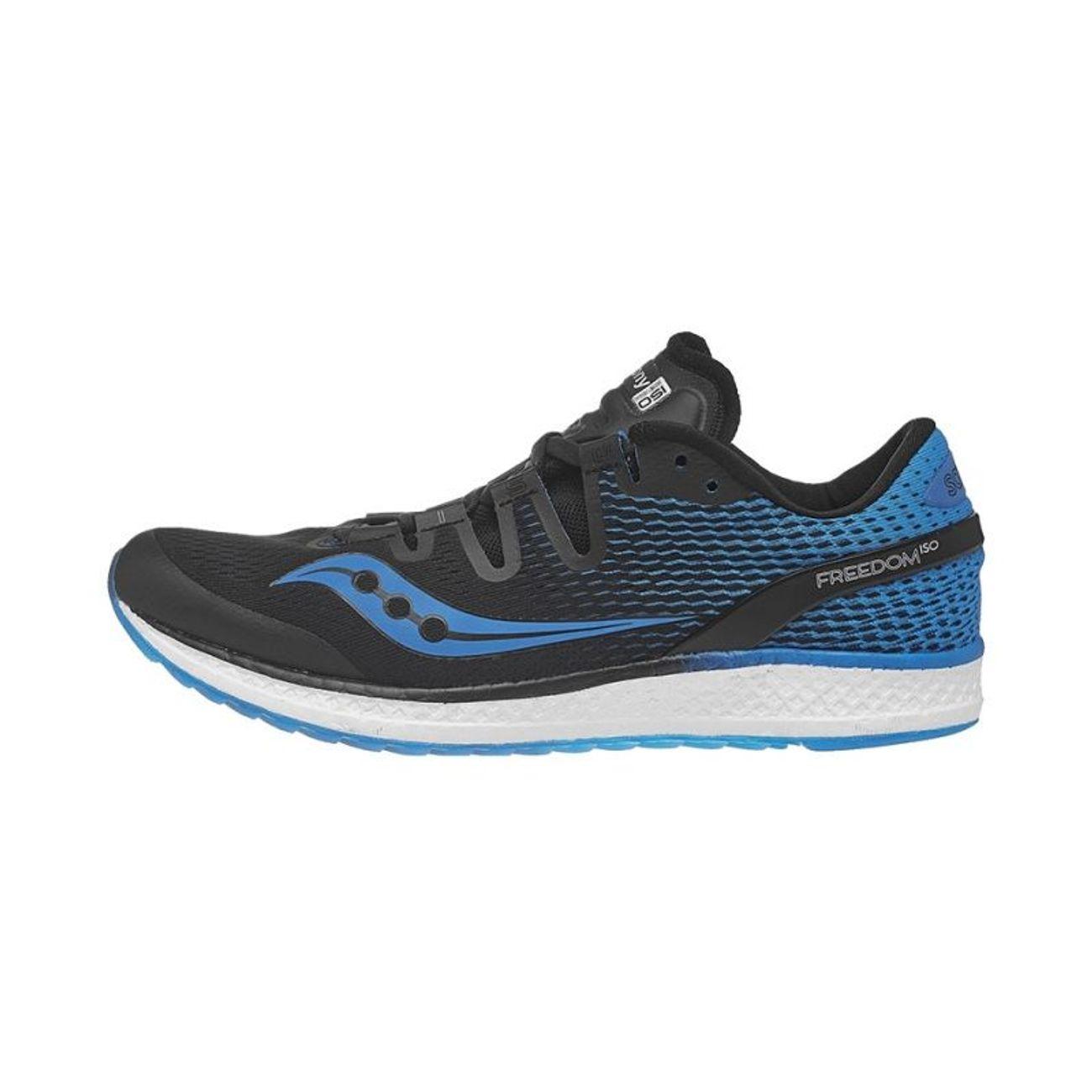 Running Freedom Noir Iso Bleu Homme Saucony Chaussures OnPk0w