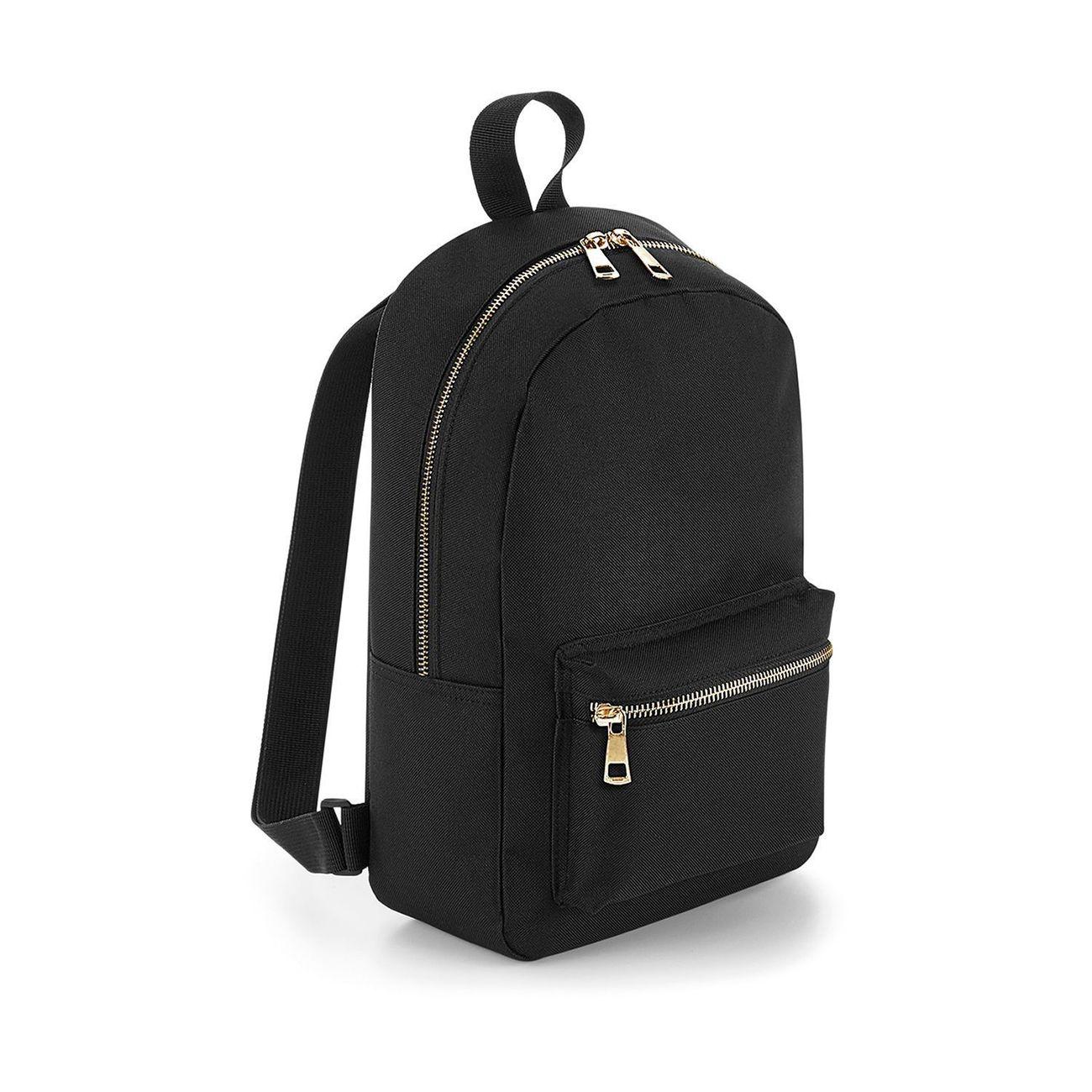 BAG BASE Petit sac à dos loisirs - BG233 - noir zip doré