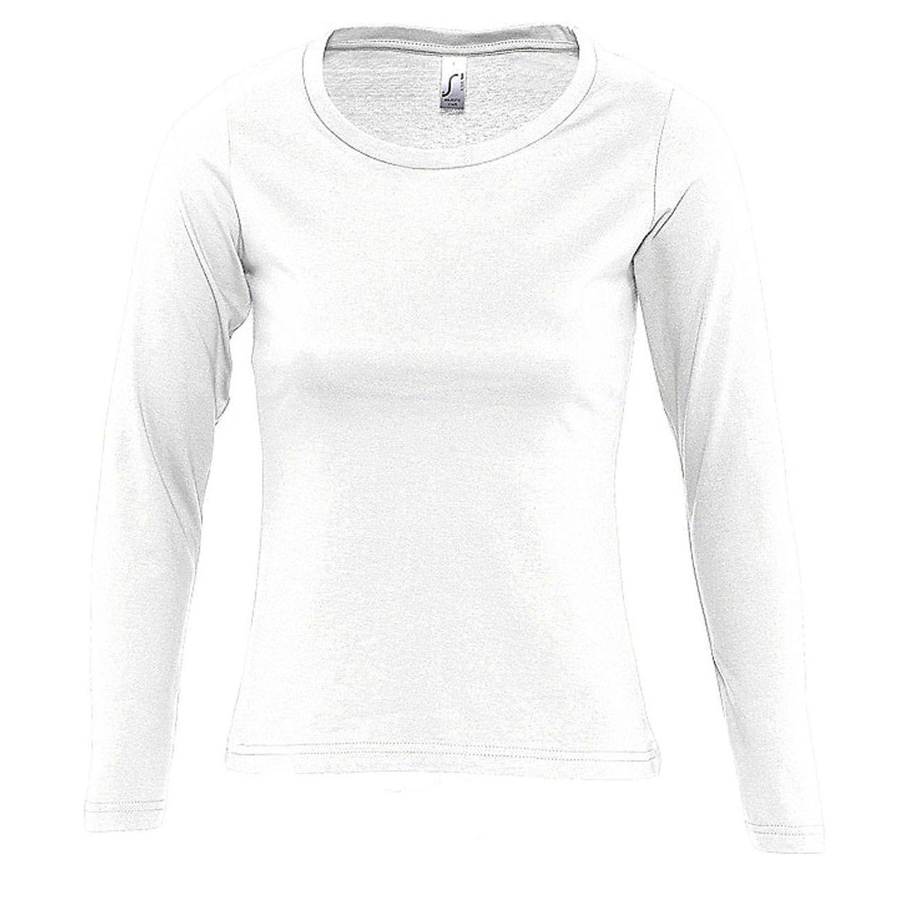 Mode- Lifestyle femme SOL S T-shirt manches longues FEMME - 11425 - blanc