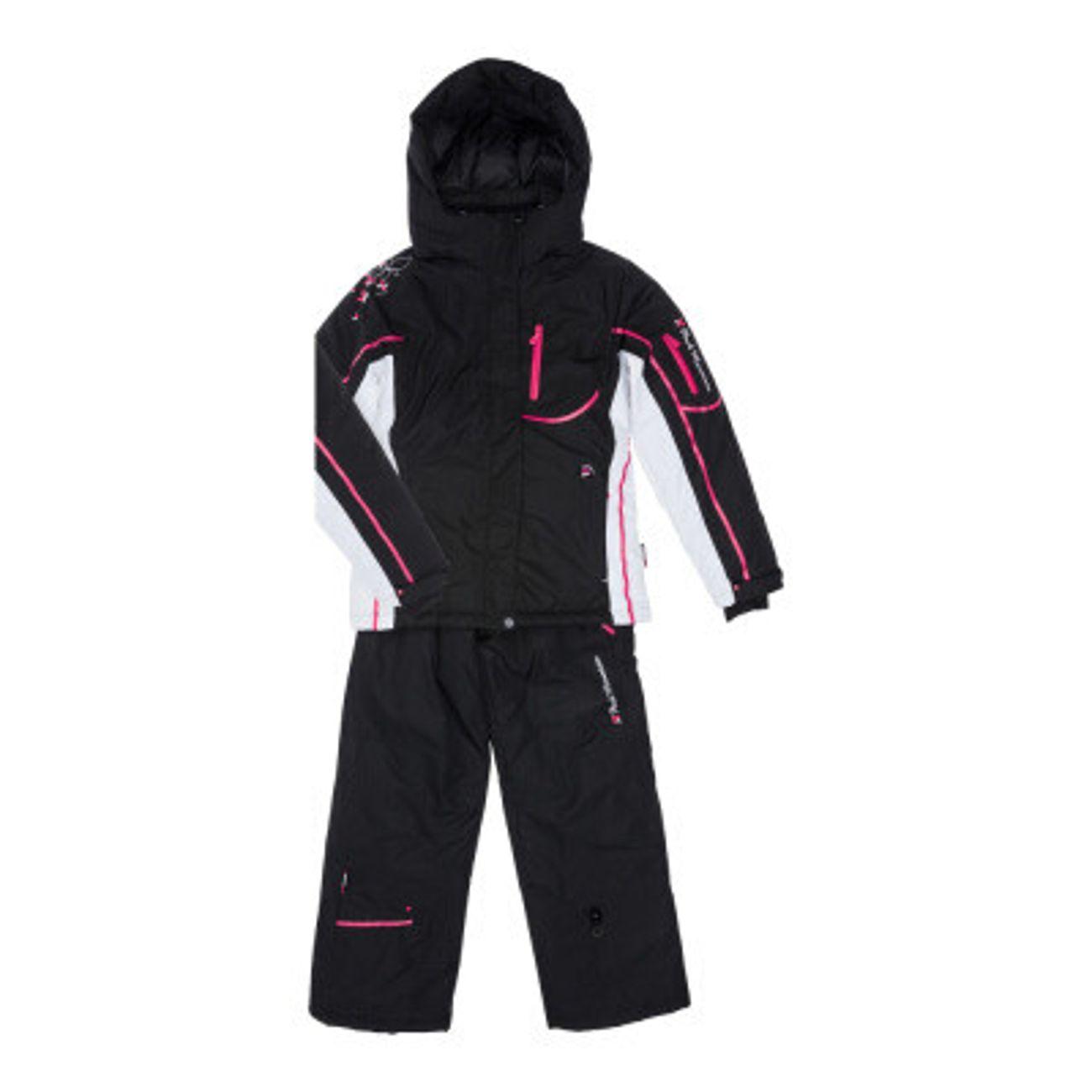 peak mountain ensemble de ski fille gauline noir noir. Black Bedroom Furniture Sets. Home Design Ideas