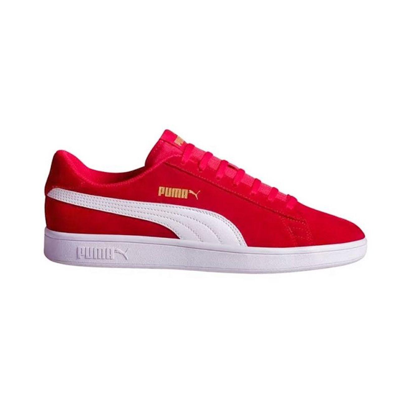 Padel Puma V2 Smash Blanco Rojo 22 364989 Adulte OiTPuXZk