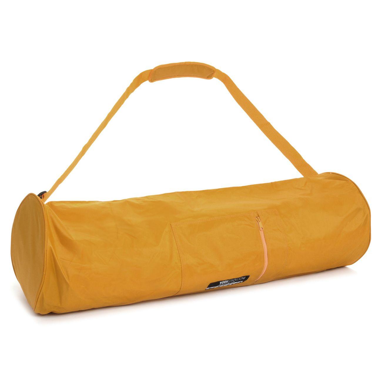 Yoga  YOGISTAR Sac de yoga basic - zip - extra big - nylon - 80 cm safran