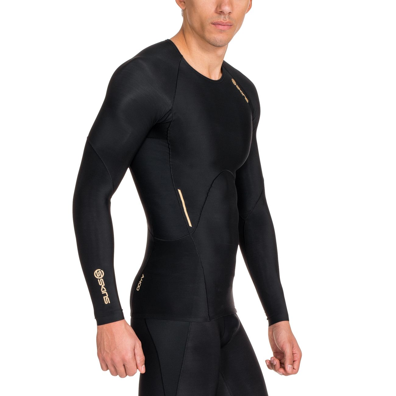 Long Course Compression Homme À Top shirt Skins Mens Sleeve Tee Pied De A400 Ny8wOvmn0