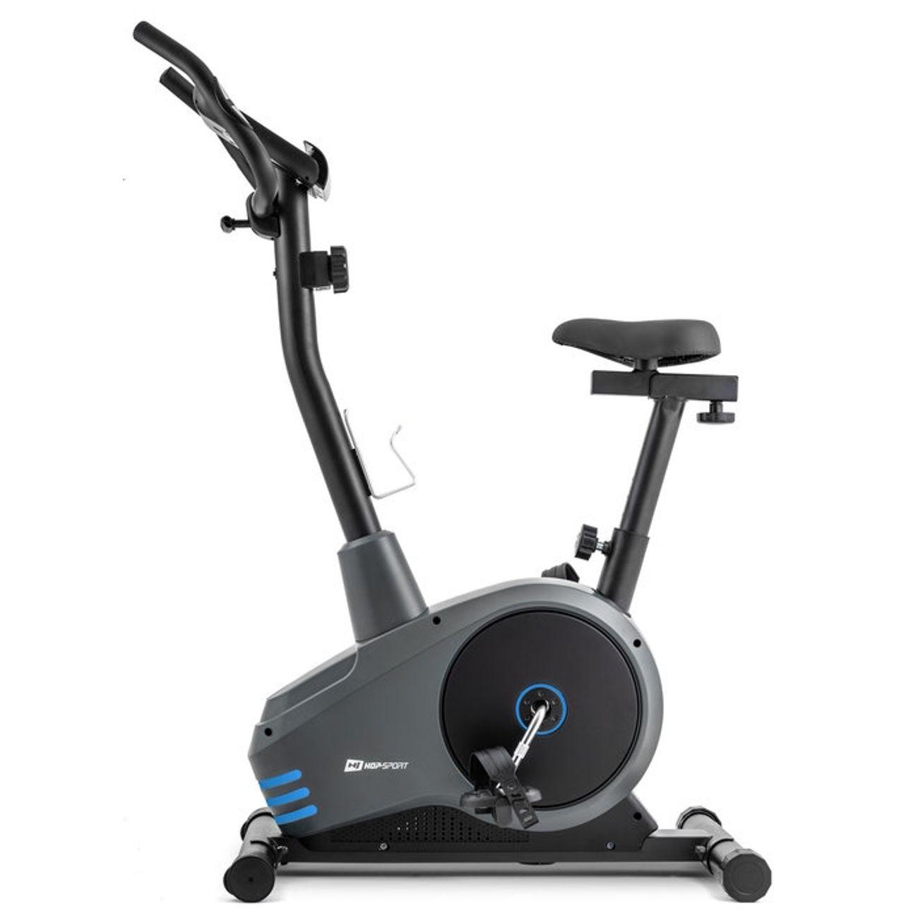 Fitness  HOP-SPORT Vélo d'appartement SPARK ergomètre pulsomètre MAX 120kg roue d'inertie 9 kg Bleu