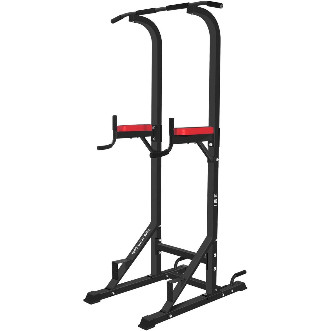ISE ISE Chaise Romaine Station Traction dips Multifonctions Barre de Traction dips Banc de Musculation Power Tower SY-5607