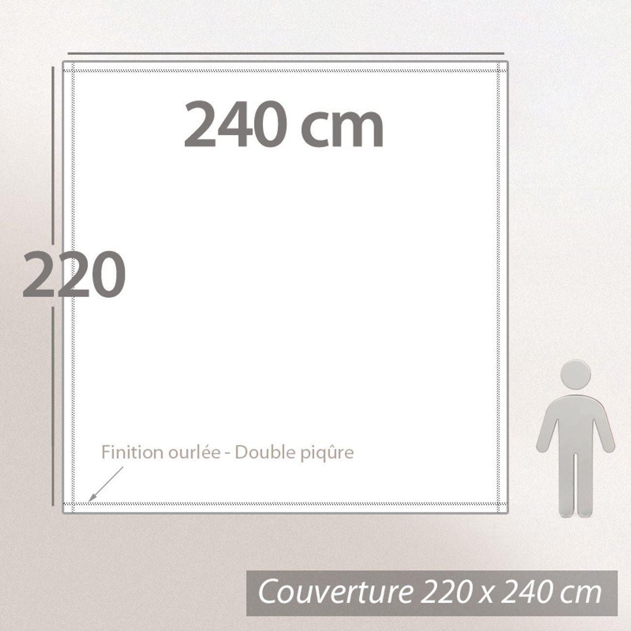 Linnea Couverture Polaire 220x240 cm Isba Fraise 100/% Polyester 320 g//m2 trait/é Non-feu