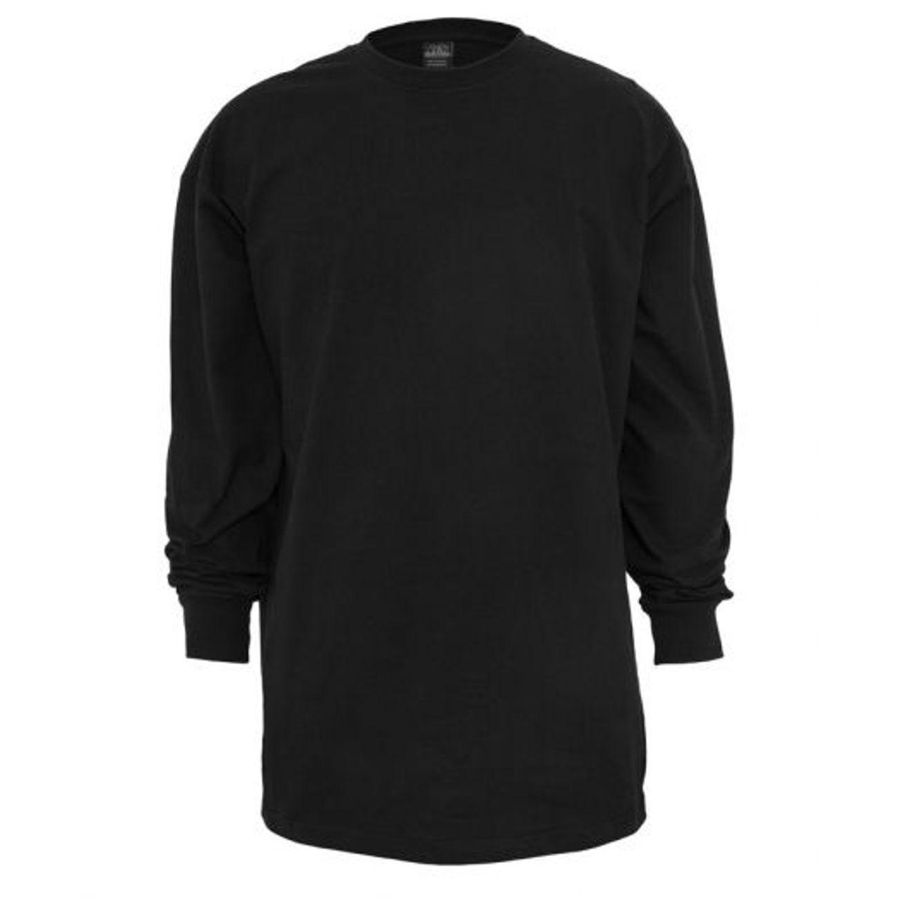 ... Mode- Lifestyle adulte URBAN CLASSICS Tee-shirt manches longues URBAN  CLASSICS extra long Noir ... 088b4145158d