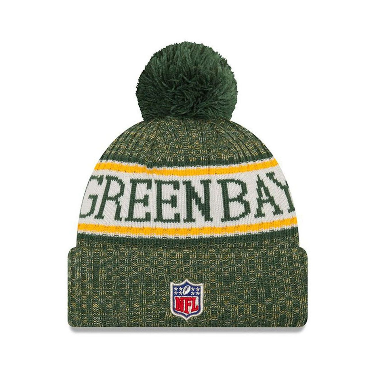 mode homme NEW ERA Bonnet pompon Green Bay Packers  SPORT KNIT
