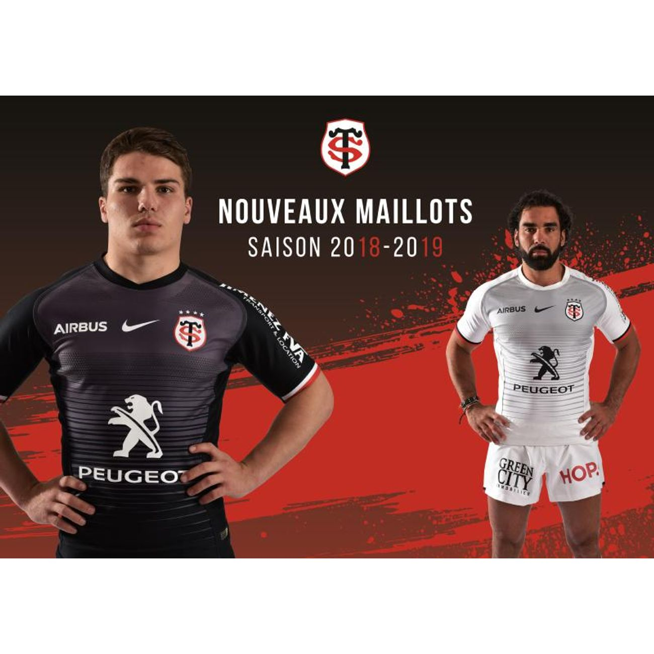 6e86a65c14f4 ... Rugby homme NIKE MAILLOT STADE TOULOUSAIN SAISON 2018 - 2019 - taille    M