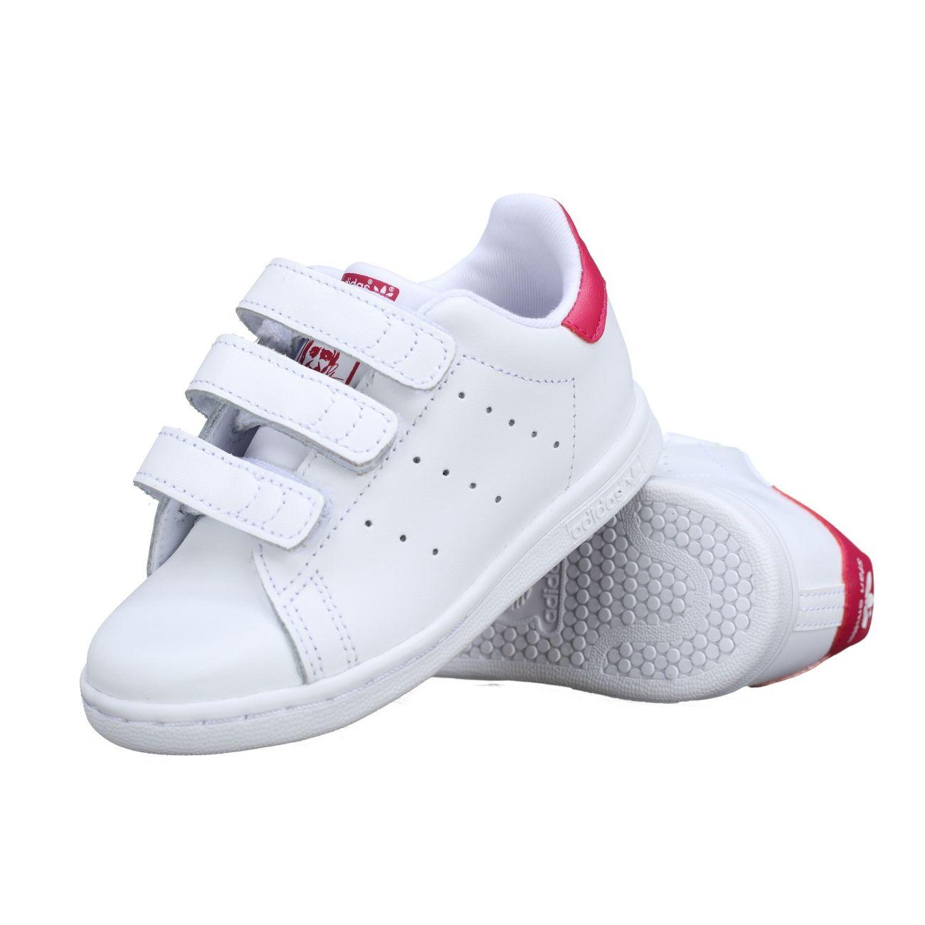 Mode- Lifestyle garçon ADIDAS Basket enfant Adidas Stan Smith Cf I Bz0523 Blanc / Rose