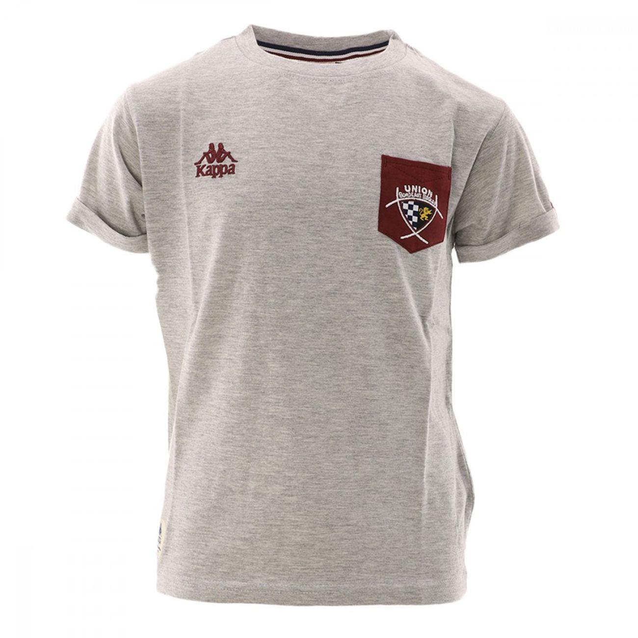 Mode- Lifestyle homme KAPPA Union bordeaux bègles T-Shirt Rugby Gris Garçon Kappa