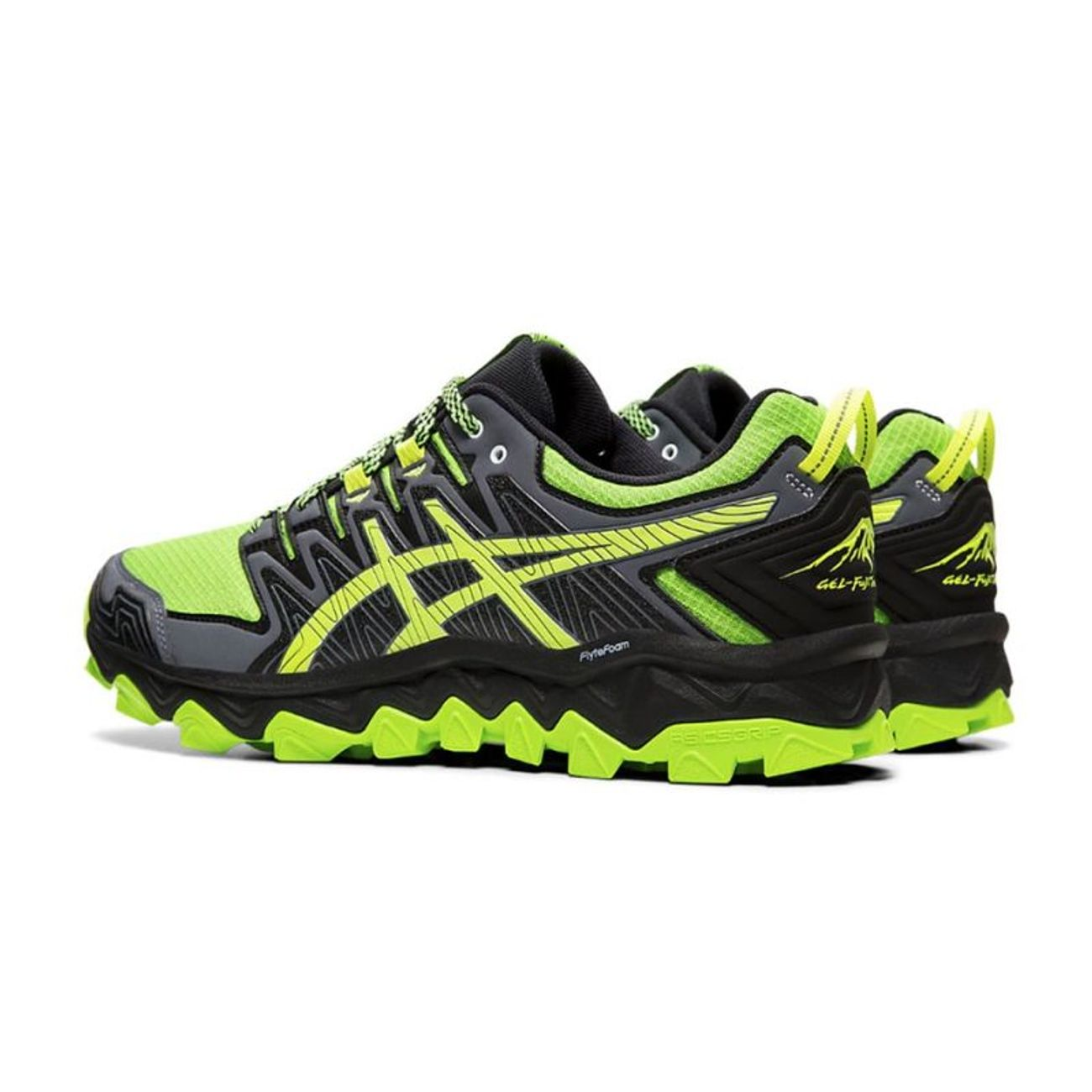 Adulte 1011a197 Negro Asics Fujitrabuco Verde 7 Running Gel 300 nOkPN80wX