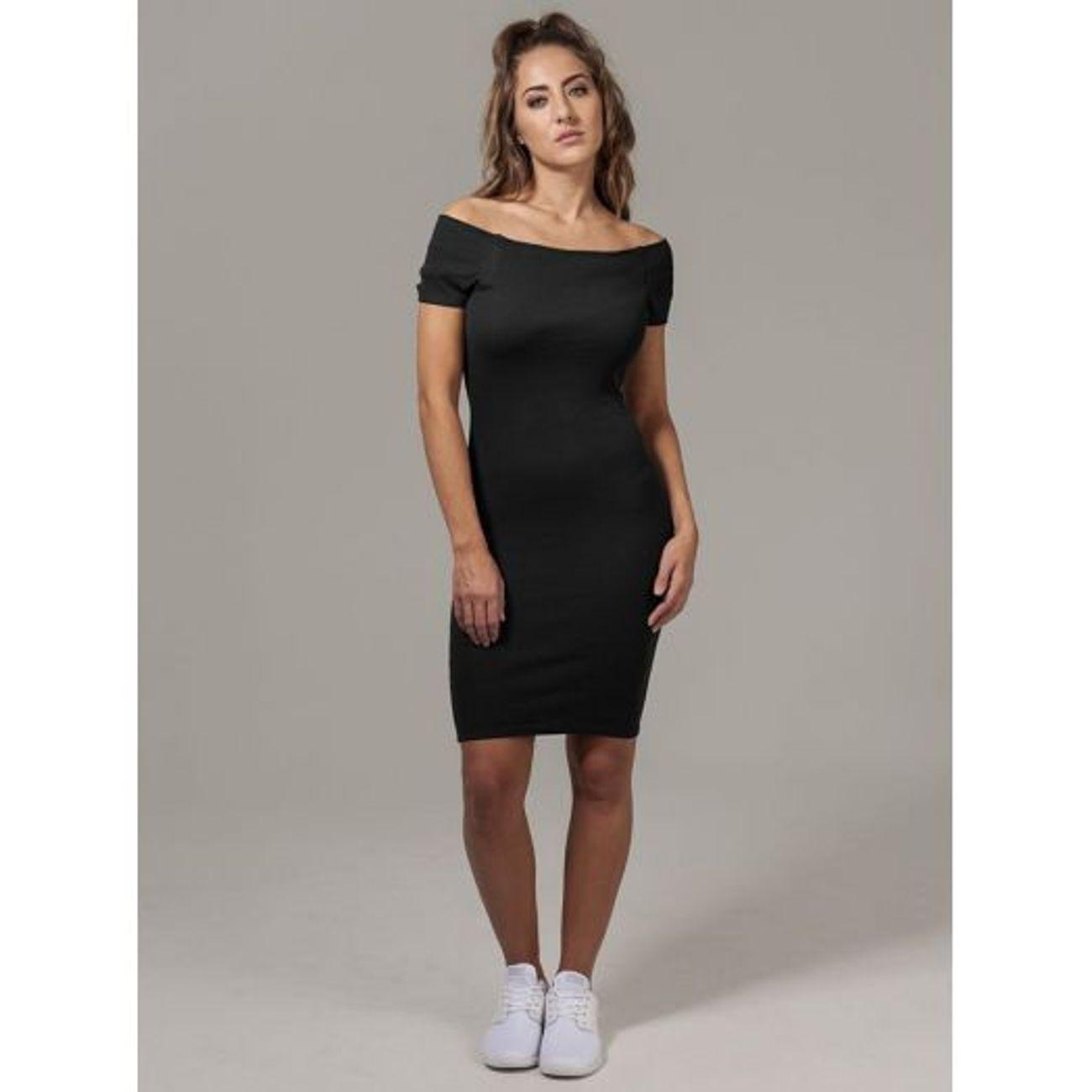 site autorisé Quantité limitée Promotion de ventes Mode- Lifestyle femme URBAN CLASSICS Robe épaule dénudée stretch
