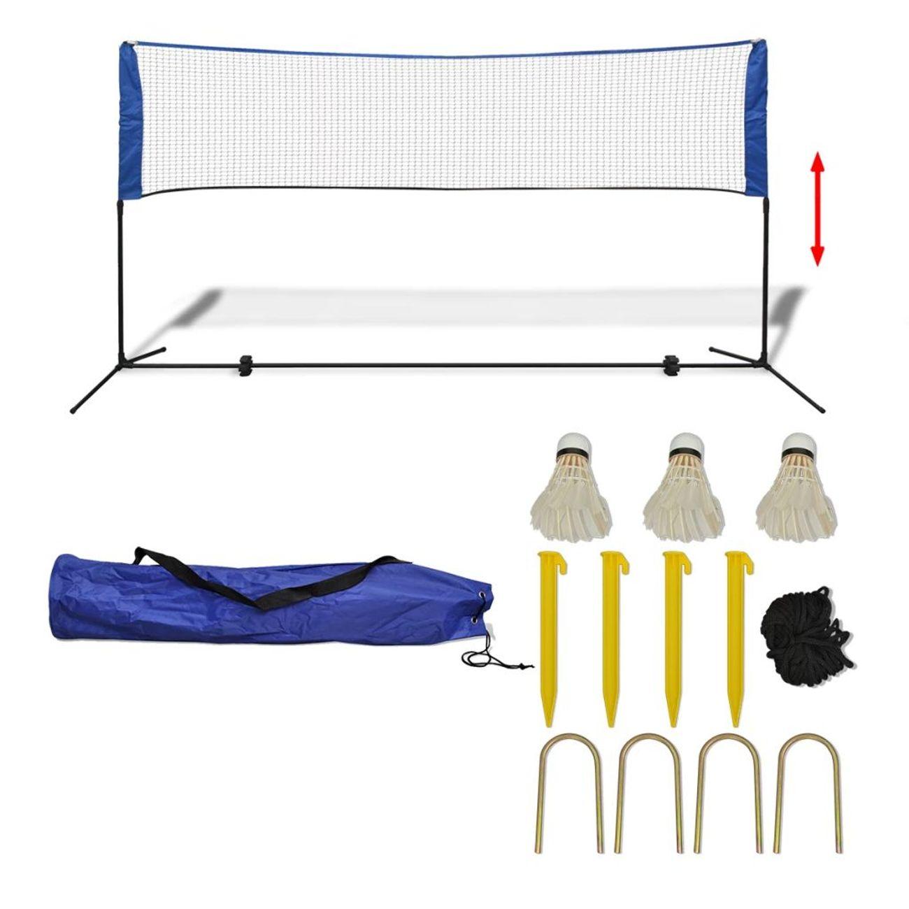 GENERIQUE Filets de badminton Contemporain Filet de badminton avec volants 300 x 155 cm