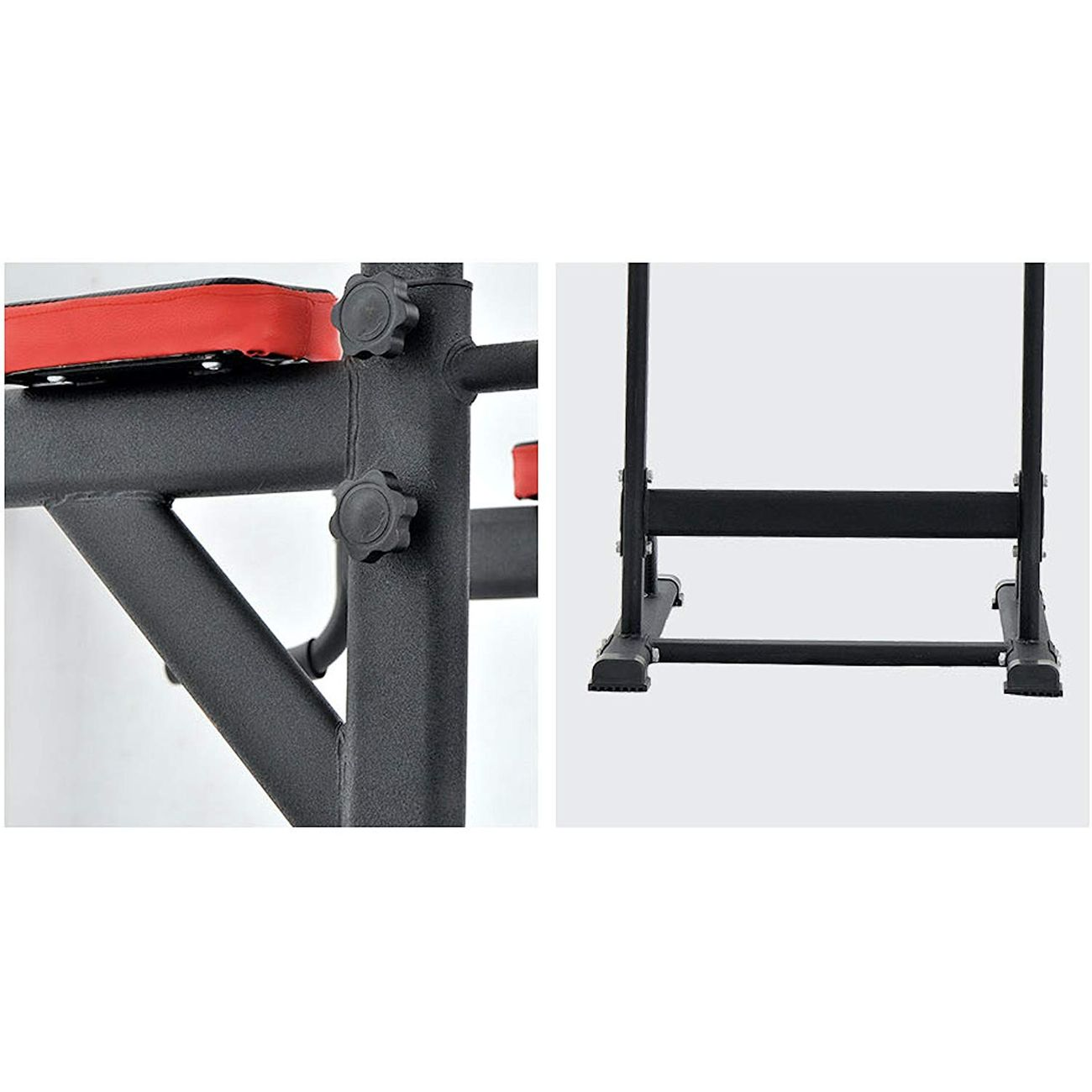 Musculation  PULL UP FITNESS Pull Up Fitness - Barre de Traction avec Chaise Romaine, Noir/Rouge