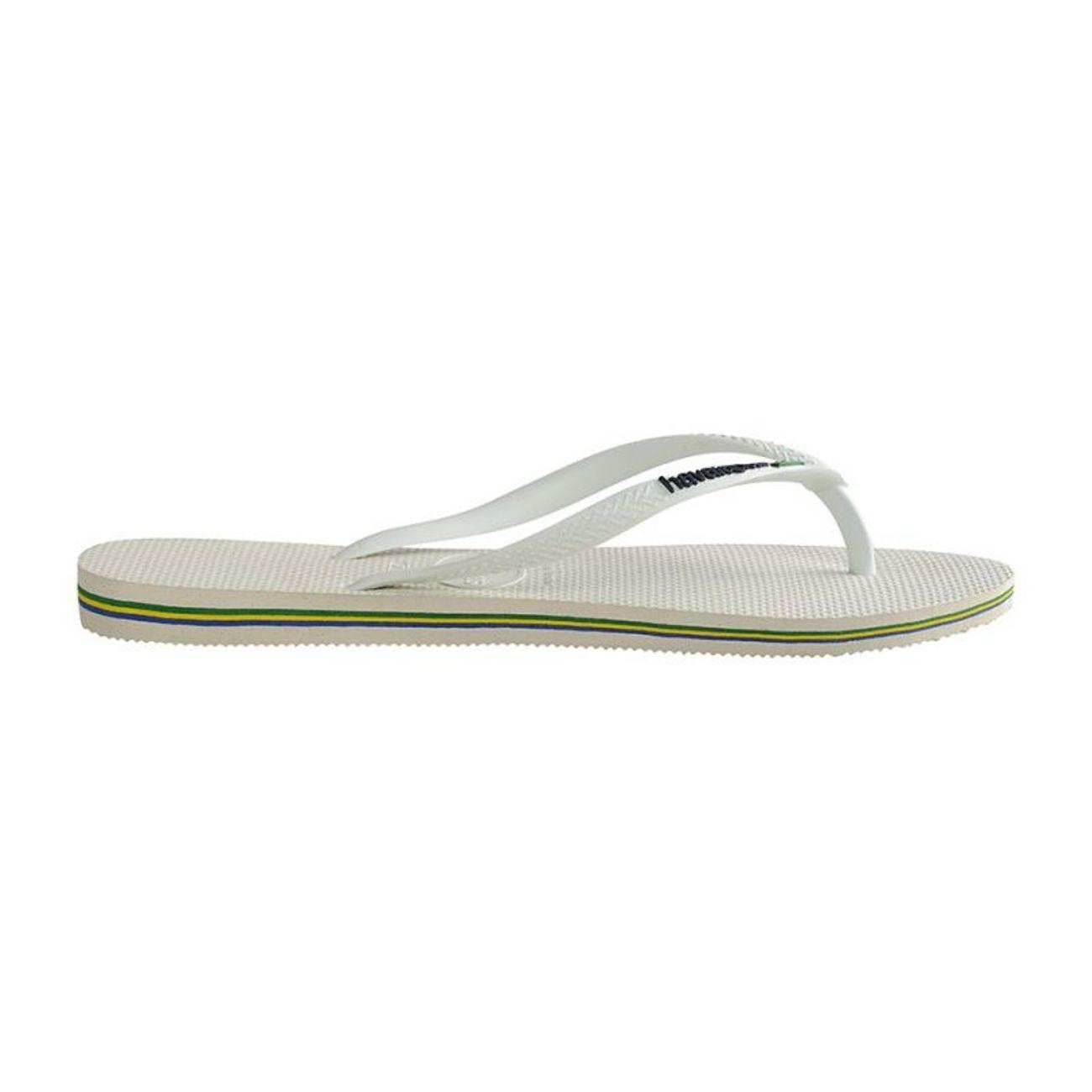 Mode- Lifestyle femme HAVAIANAS Tongs Havaianas Slim Brasil Logo - White