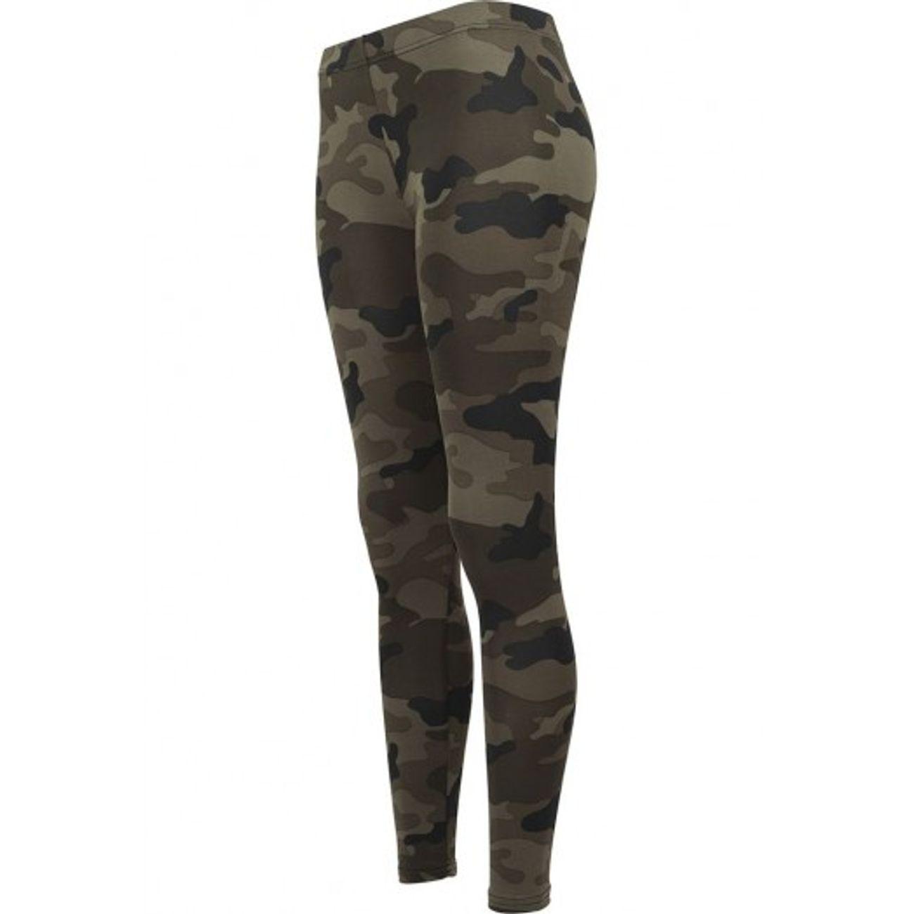 Mode Lifestyle femme URBAN CLASSICS Legging Urban Classics Camo Vert