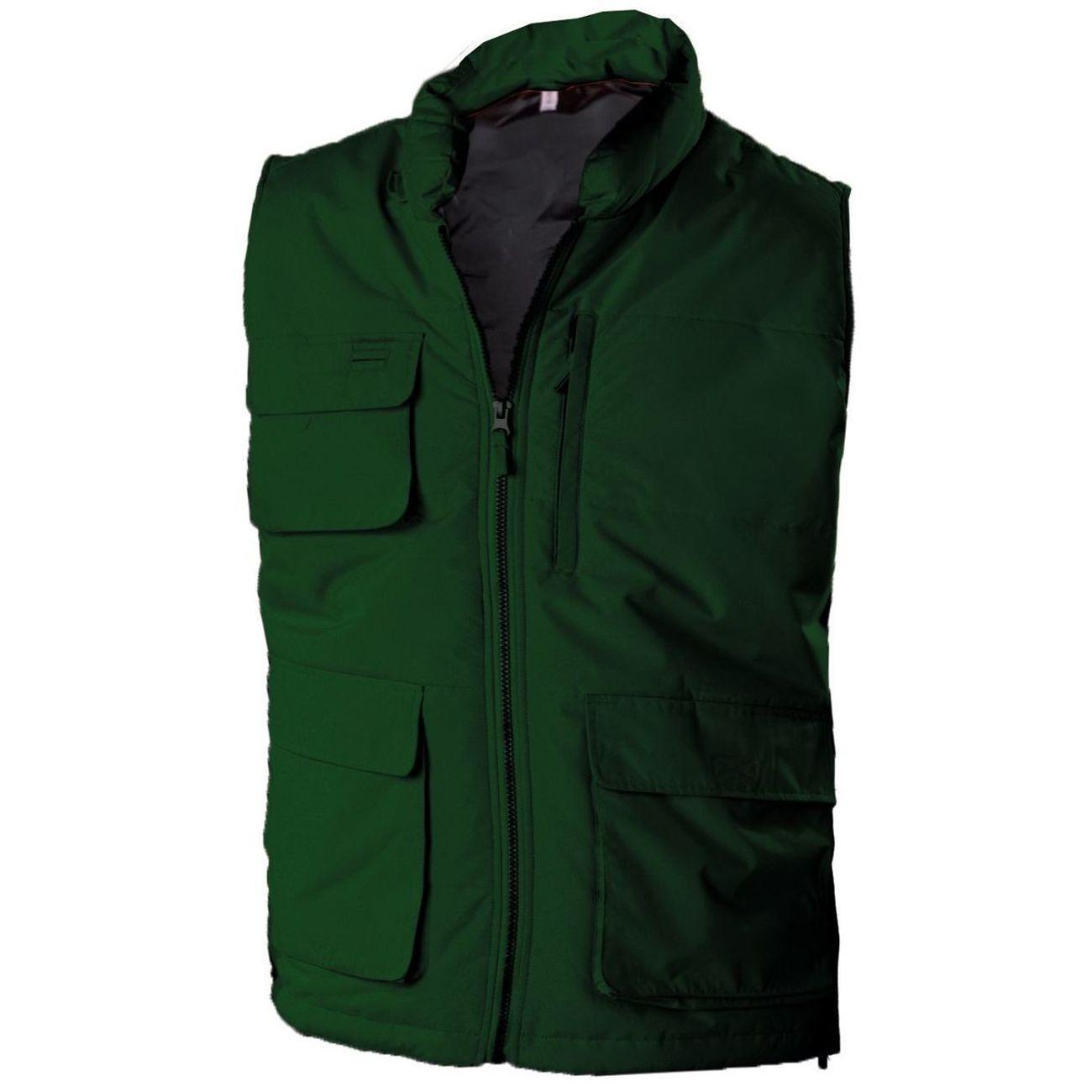 Kam Softshell sans manches veste sans manches coupe-vent Doublure Matelassé Multi poches