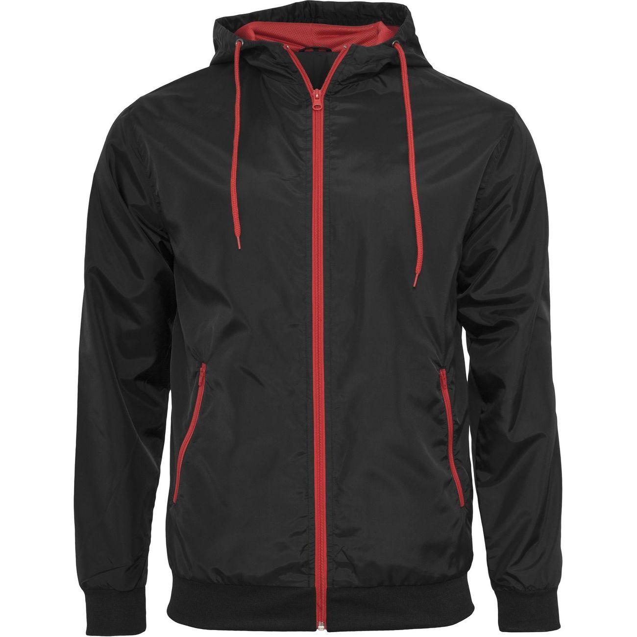 Petite randonnée homme PATOUTATIS Coupe-vent style bomber - homme - BY016 - noir et rouge