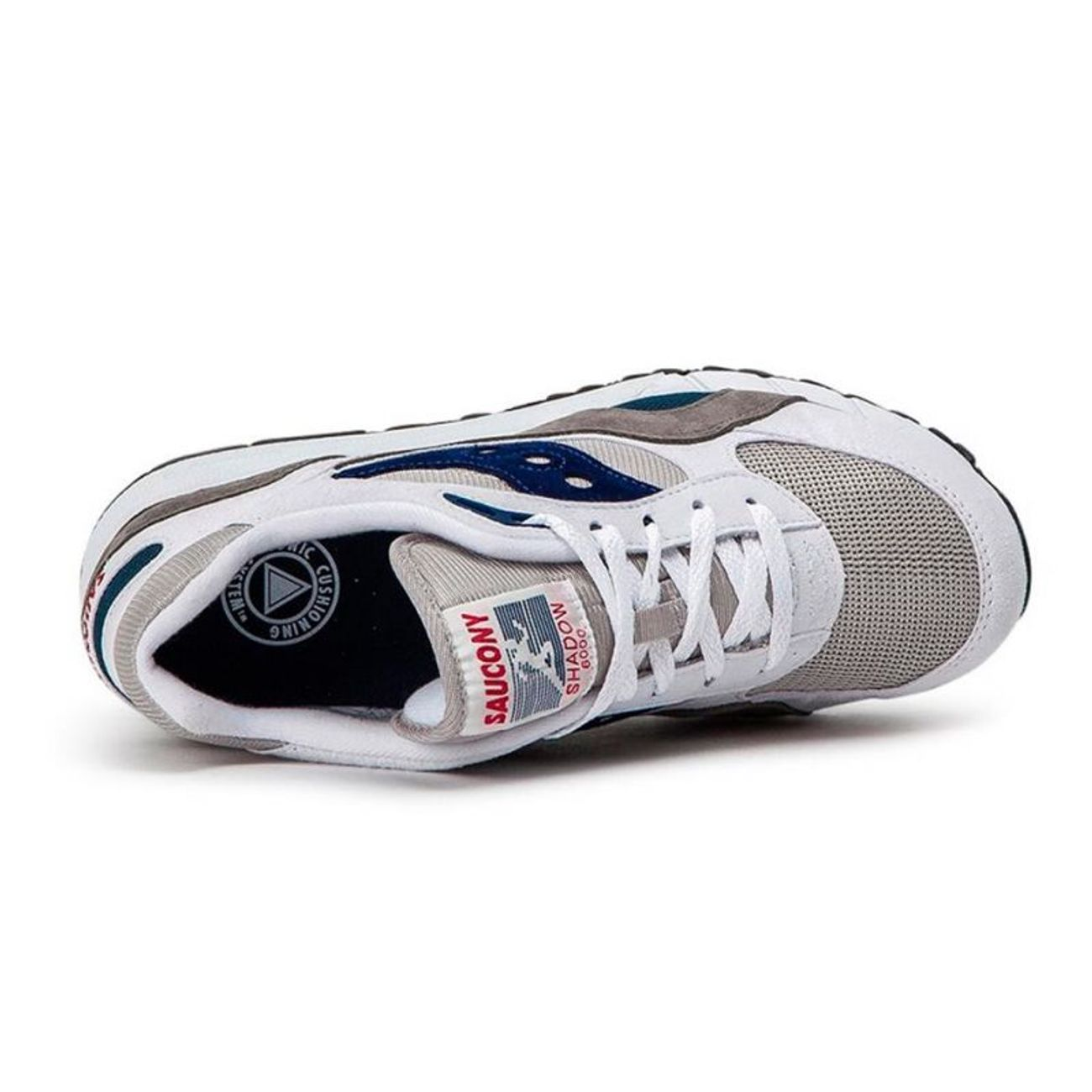 6000 S70441 Padel Shadow 1 Adulte Saucony Gris Blanc 3R4Lc5Ajq