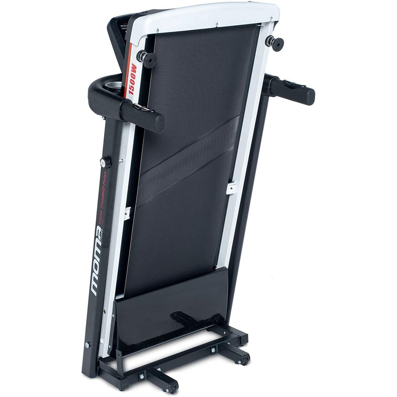 Fitness  MOMABIKES Tapis de course Moma Bikes 1500W, écran LCD, 4 capteurs de fréquence cardiaque  intégrés au guidon