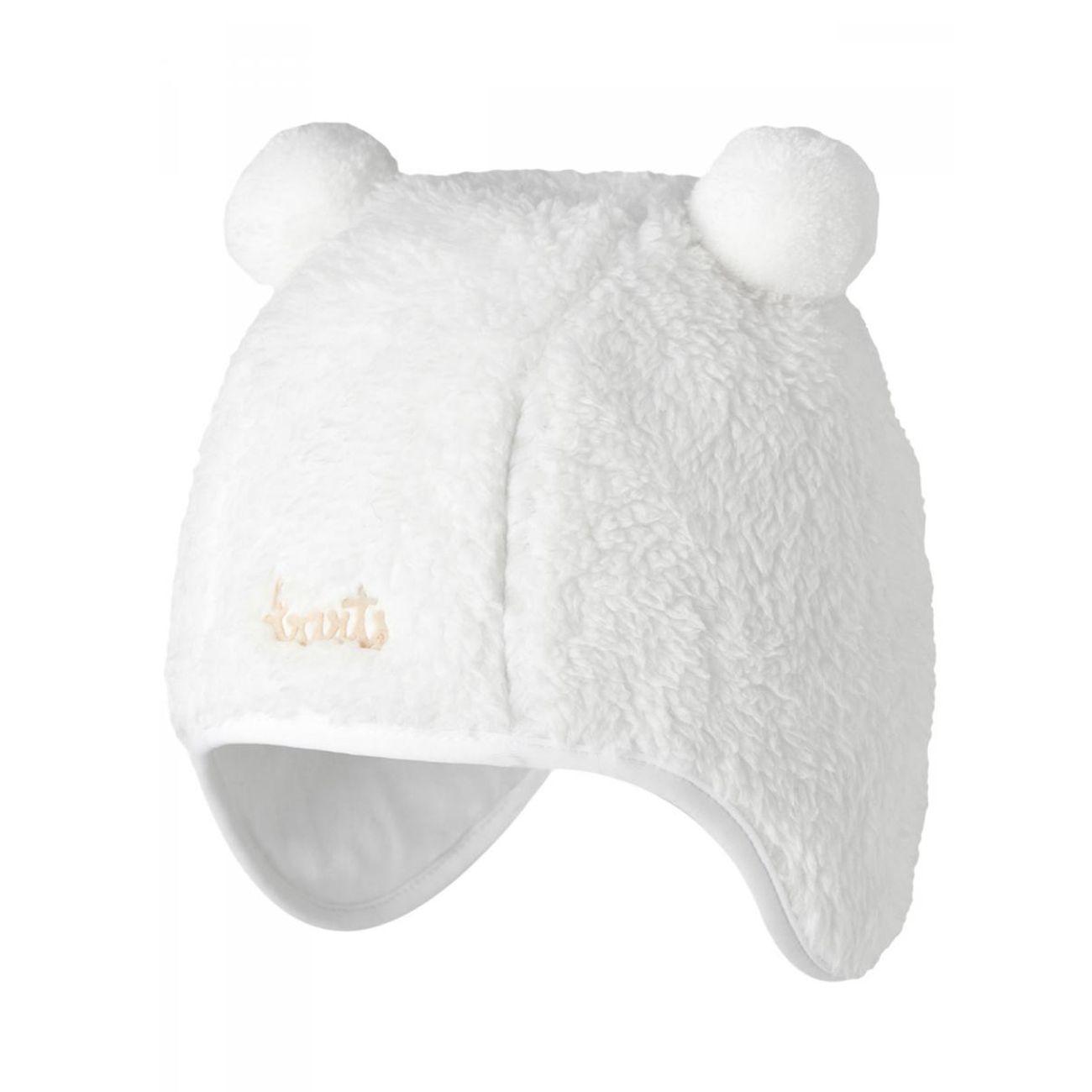 Ski Bébé BART'S BARTS-Bonnet blanc naissance en fourrure polaire bébé garçon du 3 au 12 mois Barts