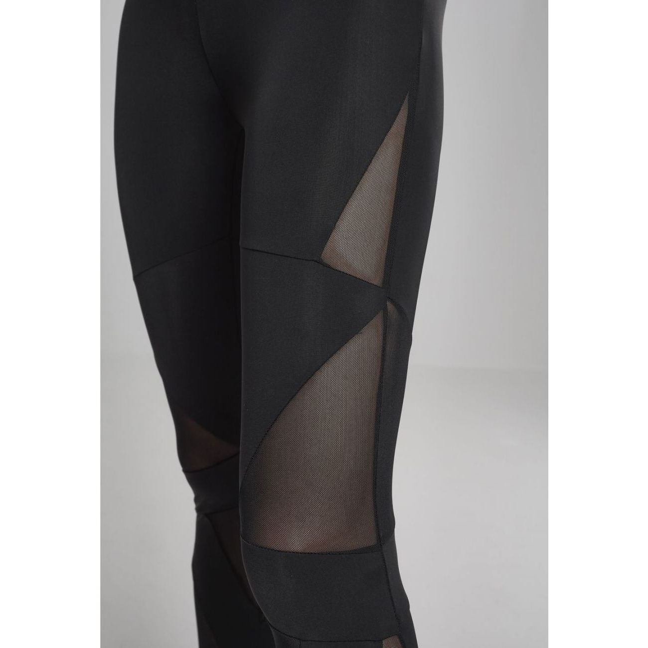 Yoga femme URBAN CLASSICS Legging avec empiècement triangle en mesh