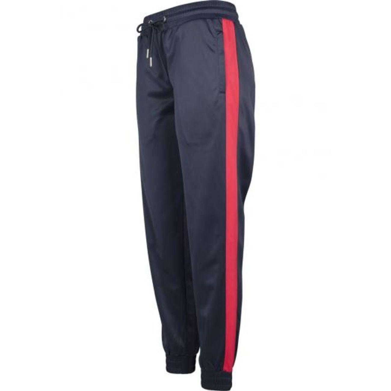40cd676d692a Mode- Lifestyle femme URBAN CLASSICS Bas de Jogging Urban Classics Femme  Bleu Marine Bandes Rouge ...