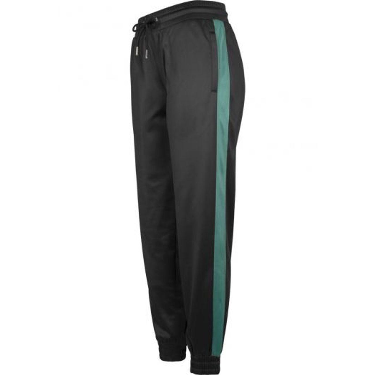 Mode- Lifestyle femme URBAN CLASSICS Bas de Jogging Urban Classics Femme  Noir Bandes Vert Rétro ... 8246b1a2200