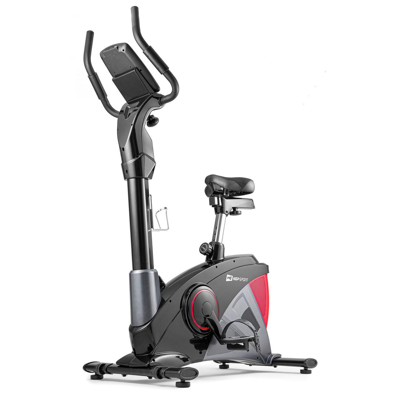 Cardio Fitness  HS HOP SPORT HS Hop-Sport Vélo d'appartement Ergomètre Apollo HS-090H (Rouge) Smartphone | Contrôle de résistance sur 32 niveaux | Masse d'inertie 13 kg | Charge Max. 150 kg