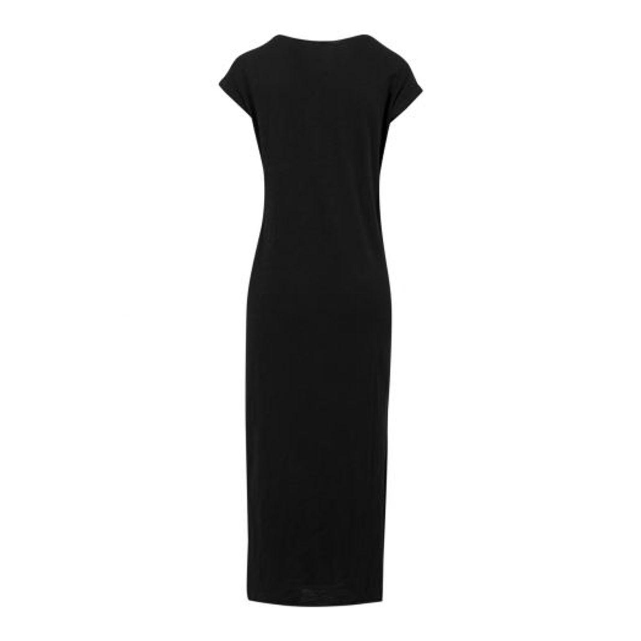 c0413da408e ... Mode- Lifestyle femme URBAN CLASSICS Robe Longue Urban Classics Slub Dress  Noir