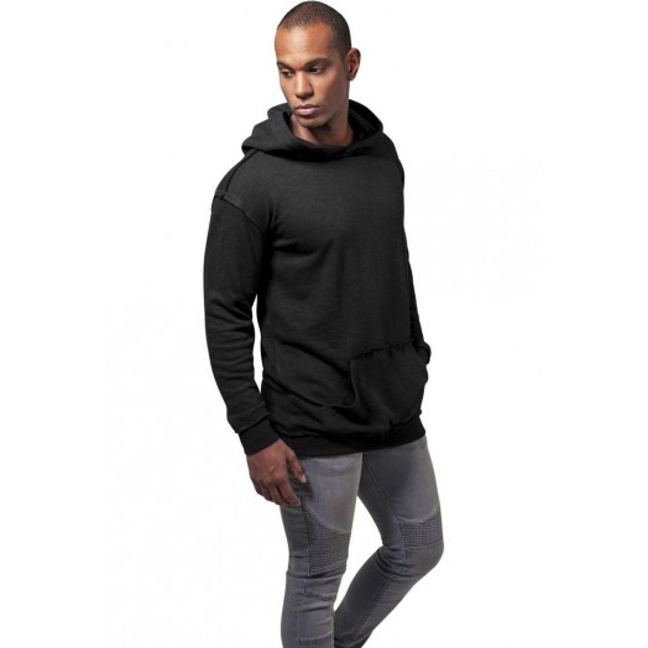 Mode Lifestyle adulte URBAN CLASSICS Sweat Capuche Oversize Urban Classics Noir Coutures Visibles