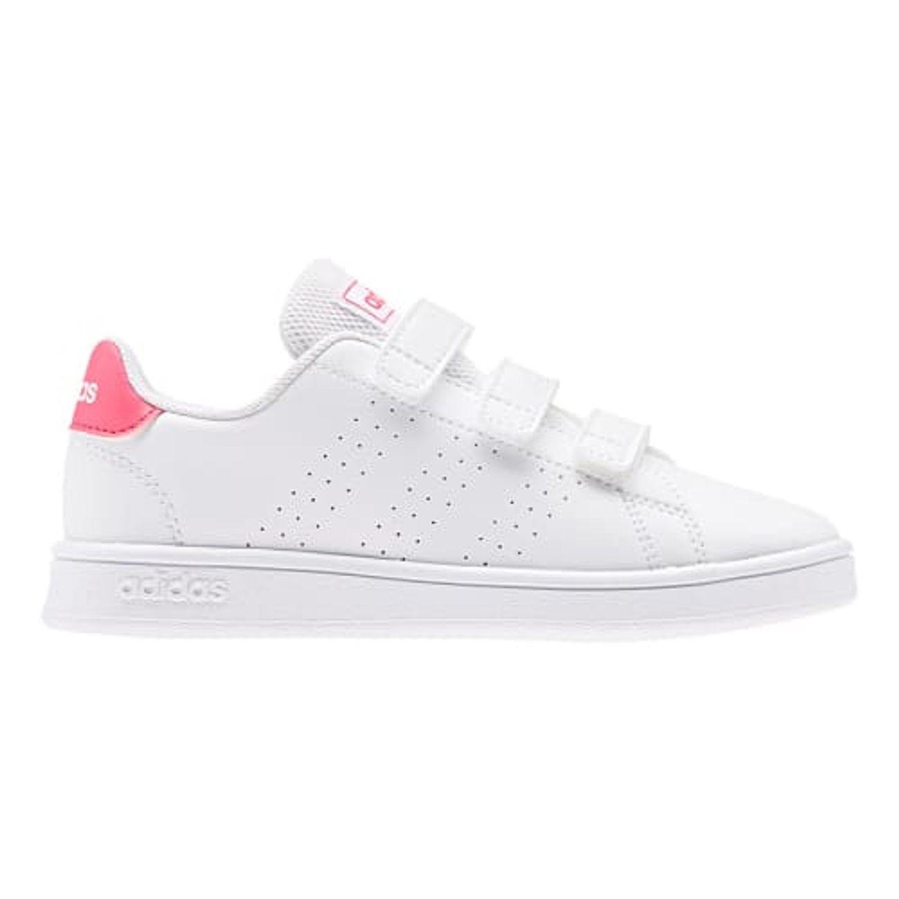 Mode- Lifestyle homme ADIDAS Chaussures adidas Advantage blanc logo rose enfant