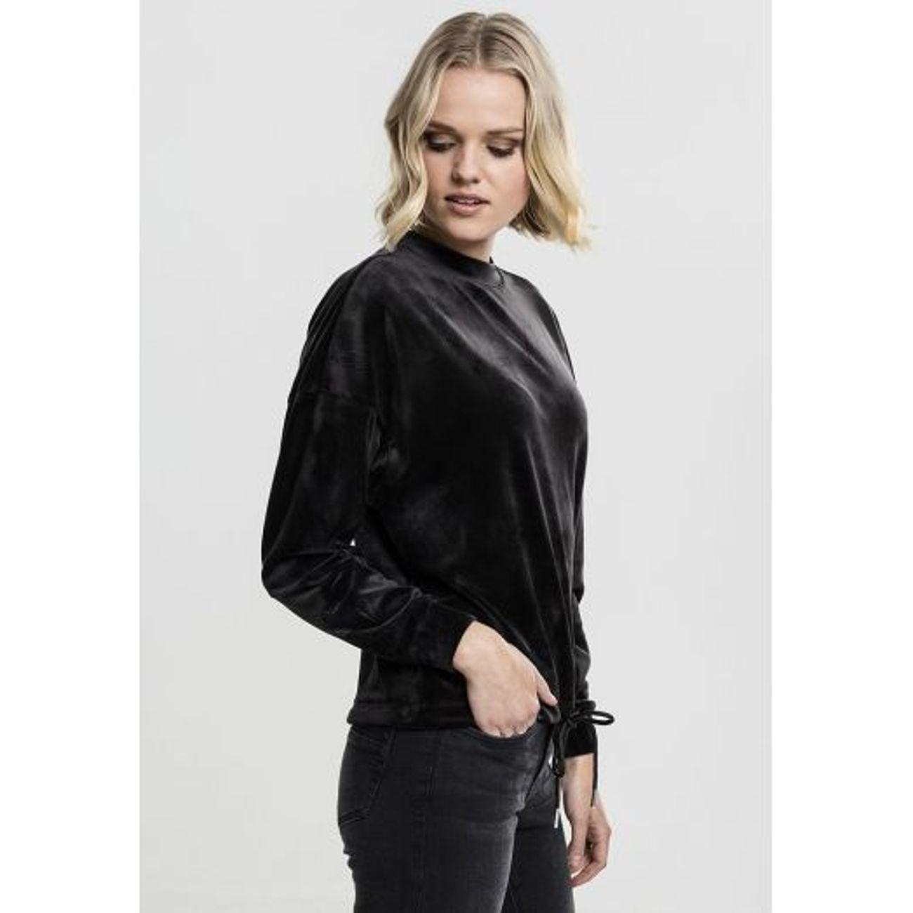 429135b1023a9 ... Mode- Lifestyle femme URBAN CLASSICS Sweat Velours Femme Urban Classics  Oversized Crewneck Noir ...