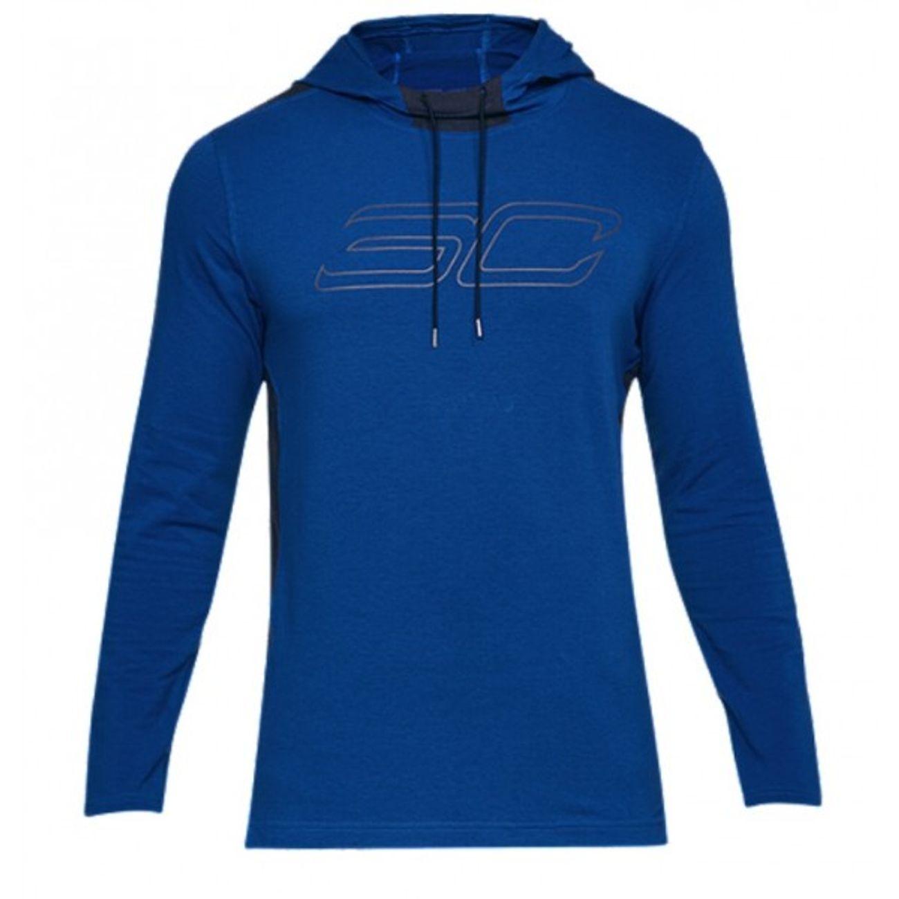 Sc30 TailleL Hooded Under Armour Pour ModeLifestyle À Bleu Capuche Adulte Sweat Homme OXwPNk08nZ