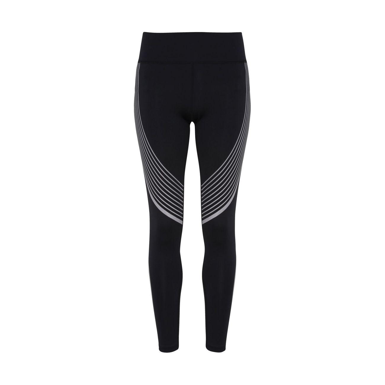 Fitness femme TRI DRI Legging performance réfléchissant pour femme - TR306 - noir