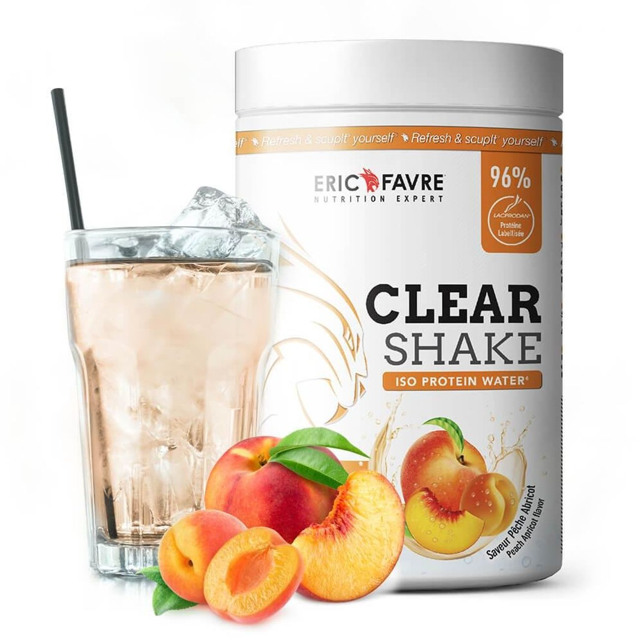 NUTRITION   ERIC FAVRE Clear Shake - Iso Protein Water - Proteines - Pomme Poire - Eric Favre