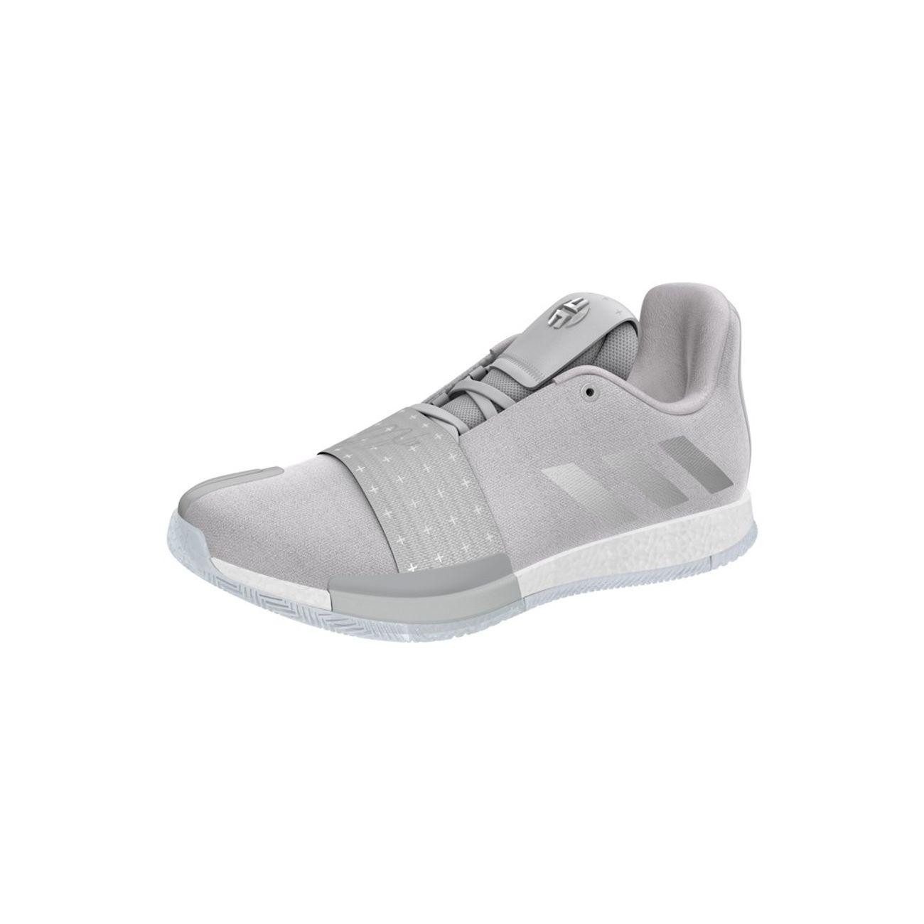 Basket ball adulte ADIDAS Chaussure de Basketball adidas James Harden Vol.3 Voyager Gris pour homme Pointure - 44
