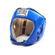Casque de boxe compétition Léone bleu Taille - L