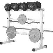 Gorilla Sports - Rack de rangement pour poids et haltères 30/31mm - Blanc GS019