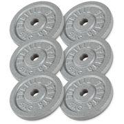 Gorilla Sports - Lot de 6 x 5kg en fonte de diamètre 31mm