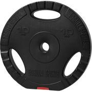 Gorilla Sports - Poids disque en plastique de 10 kg avec poignées