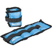 Gorilla Sports - Bandes lestées pour poignets ou chevilles 1kg(2x0.5), 2kg(2x1), 3kg(2x1.5) et 4kg(2x2)
