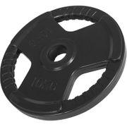 Gorilla Sports - Poids disque 51mm en fonte revêtement caoutchouc de 10kg avec poignée