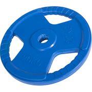 Gorilla Sports - Poids disque 51mm en fonte revêtement caoutchouc de 20kg avec poignée